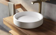 Small White Vessel Sink picture № 14