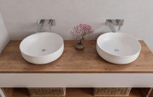 Small White Vessel Sink picture № 11