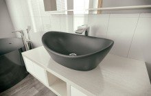 Matte Black Vessel Sink picture № 5