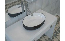 Black And White Vessel Sink picture № 8