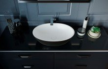 Black And White Vessel Sink picture № 2