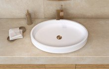 Small White Vessel Sink picture № 19