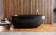Aquatica Spoon 2 Egg Shaped Graphite Black Solid Surface Bathtub 01 (web)