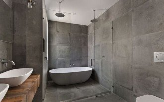bathtub in shower