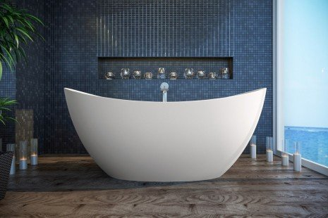 Purescape 171 Freestanding Slipper Bathtub BI 03