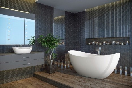Purescape 171 Freestanding Slipper Bathtub BI 04