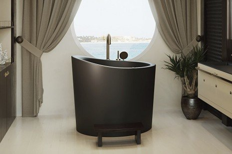 True Ofuro Mini Black Tranquility Heated Japanese Bathtub 220 240V 50 60Hz 11