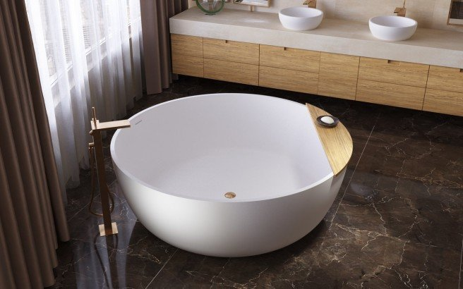 ᐈ Aquatica Adelina Round Freestanding, Round Soaking Tubs