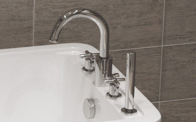 Aquatica Celine 4 Hole Deck Mounted Bath Filler (SKU 126) – Chrome 01 (web)