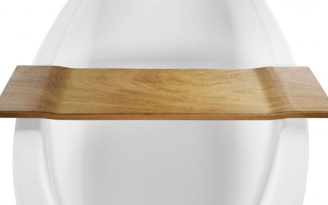 Aquatica Tidal Waterproof Golden Iroko Wood Bathtub Tray 01 (web)