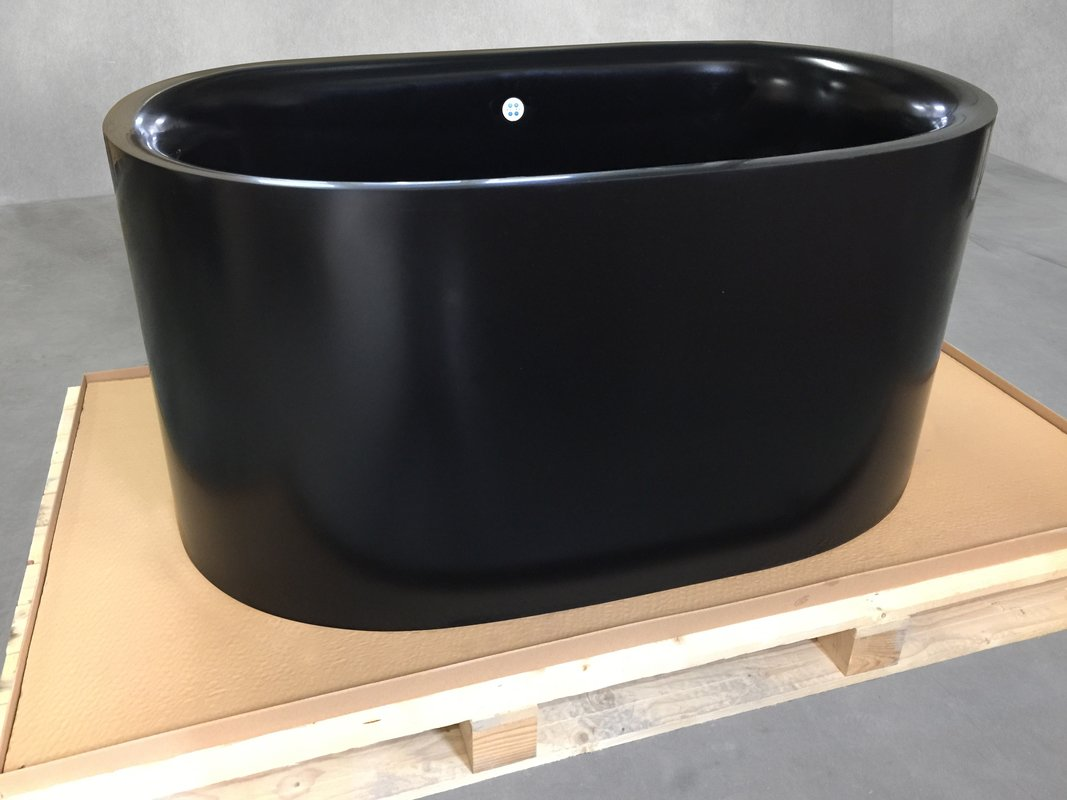 Aquatica Sophia Black Relax Air Massage Freestanding Solid Surface Bathtub Fine Matte Customer Images 01 (web)