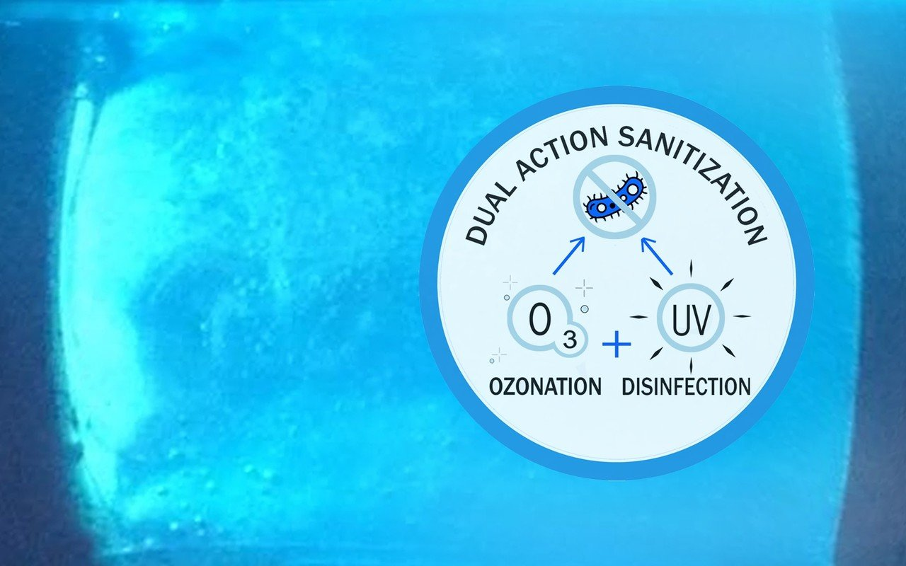 Dual action water sanitization system for Aquavia Spas (web)