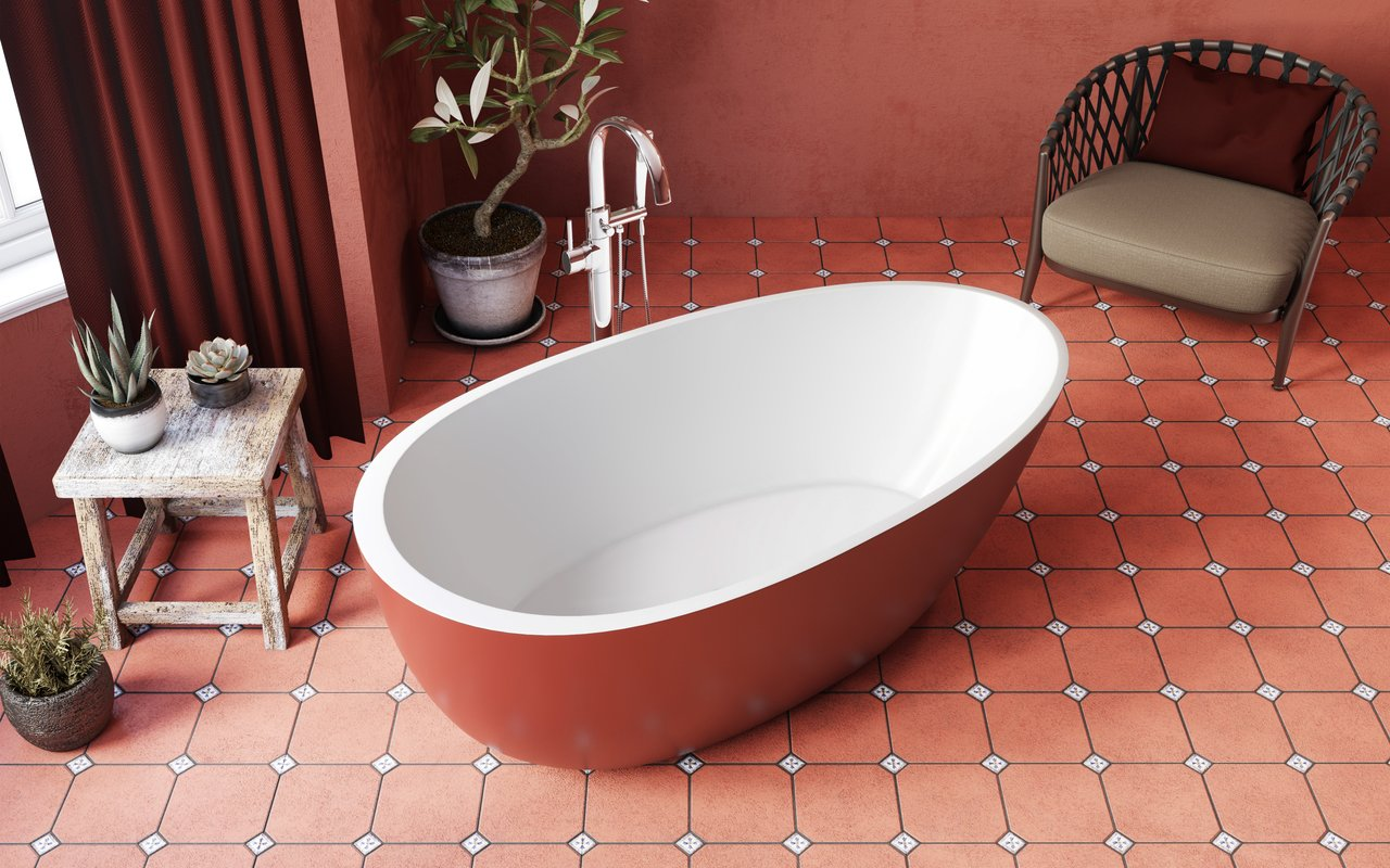 Spoon 2 RAL3009 Freestanding Egg Shaped Solid Surface Bathtub 6 1 (web)