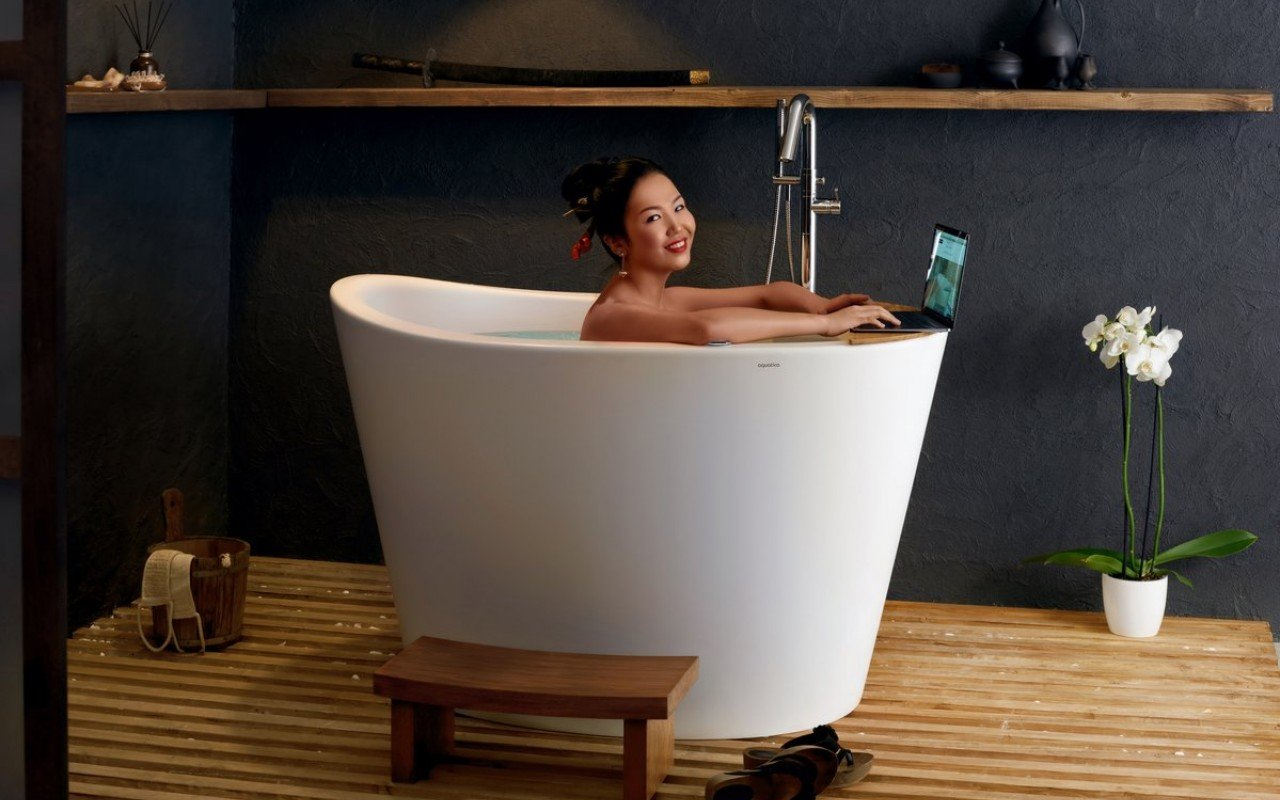Aquatica True Ofuro Tranquility Heated Japanese Bathtub US version 110V 60Hz 01 (banner)